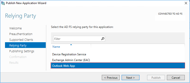 OWA and ECP login with AD FS through the WAP – Just another