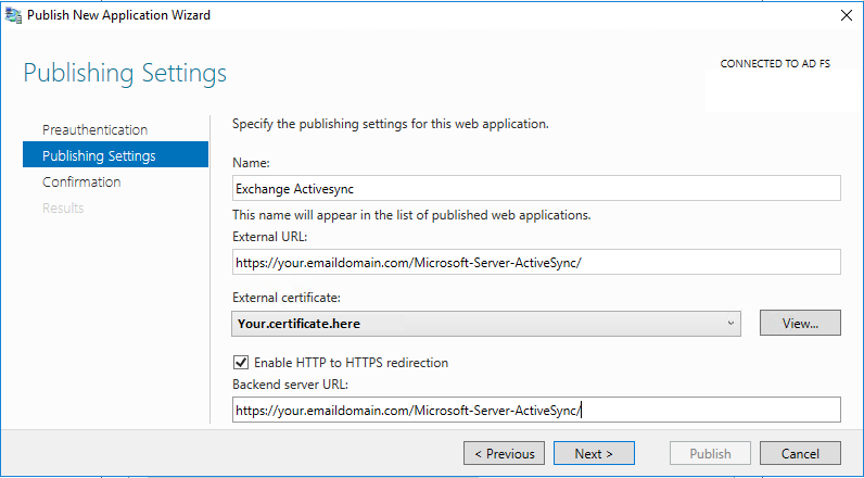 OWA and ECP login with AD FS through the WAP – Just another IT Blog